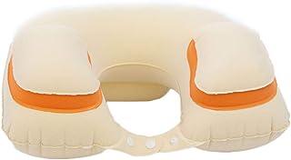 Travel Pillows Inflatable U-Pillow Plane Travel Pillow Neck Pillow Neck Sleep Pillow to Blow Portable Foldable (Color : Beige, Size : 40 * 28cm)