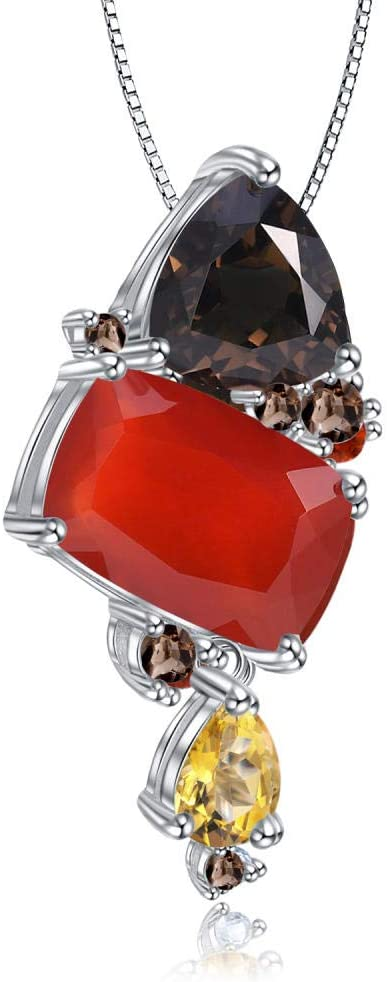 Necklace Pendant 925 OFFicial site Sterling Silver Popular product Red Pend Candy Agate Modern