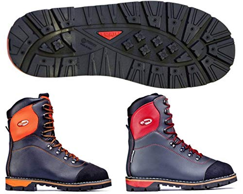 boot bot Stiefel botte TREEMME stivale sicurezza classe 2 boscaiolo antitaglio pelle suola TRAIL gomma antiusura chiodabile con puntale antischiacciamento Made in Italy cod. 1114 IDEAL