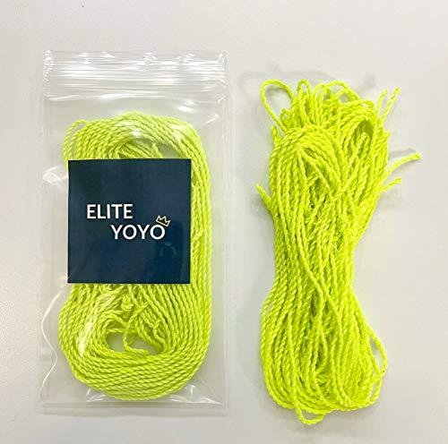 Elite YoYo Bright Yellow YoYo Strings - 100% Polyester YoYo Strings - 10 Yellow Yo-Yo Strings in Pack - Perfect for Both Beginner and Expert Yo-Yoing!
