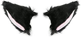 BUYITNOW Fur Cat Fox Ears Hair Clip Anime Cosplay Hairpin Halloween Accessories