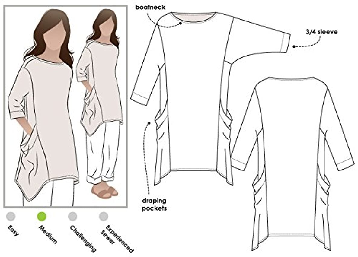 Style Arc Sewing Pattern - Kaye Tunic (Sizes 18-30) - Click for Other Sizes Available