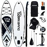TIGERXBANG Tabla de surf de remo, 300 x 71 x 15 cm, 320 x 80 x 15 cm, 6 pulgadas de grosor, accesorios inflables completos