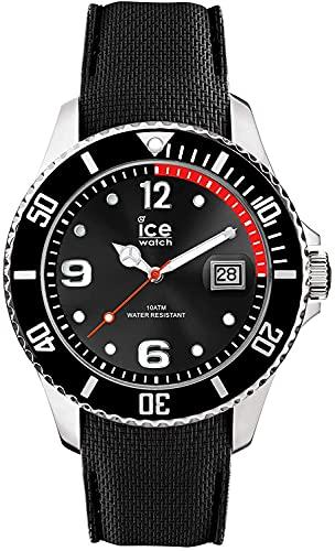 Ice-Watch - ICE steel Black - Schwarze Herrenuhr mit Silikonarmband - 015773 (Large)