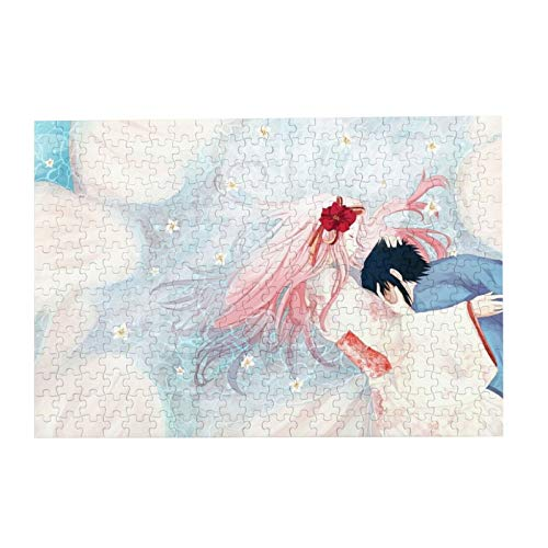 VOROY Jigsaw Picture Puzzles Gift For Girl 300pcs Educational Family Game Wall Artwork,IME Boys Anime Girls Naruto Shippuuden Pink Hair Flower In Hair Long Hair Closed Eyes Women Men