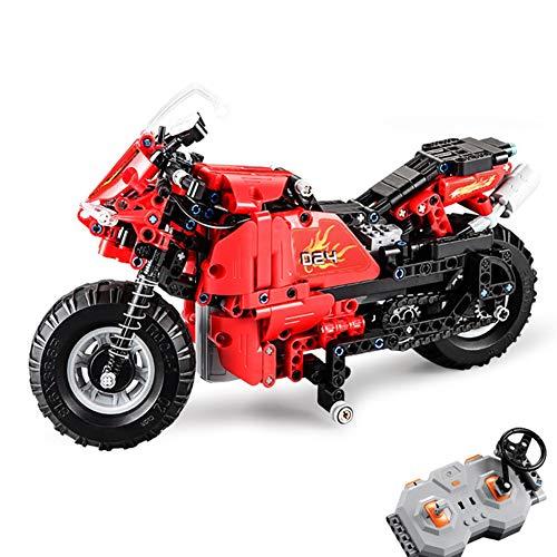 2.4G Autobike Constructie Bouwstenen, Motorfiets Bakstenen Intelligentie Leren/Bouwmodel Set-speelgoed Race-scooter/Autocycle-speelgoed Geschenken, 484 stks