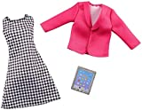 Barbie GHX40 – Carrière Mode Vêtements – Poupée de Buisness Maîtresse – Robe, veste et tablette