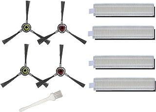 Części zamienne do odkurzacza Ecovacs Deebot OZMO Slim 10 Robotics - 8 filtrów Hepa 4 szczotki boczne 1 * szczotka do czys...