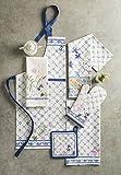 Maison d' Hermine Faïence 100% Baumwolle 1-teilige Küchenschürze mit verstellbarem Hals und versteckter Mitteltasche, Langen Krawatten für Frauen/Männer | Küchenchef | Kochen(70cm x 85cm) - 8