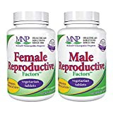 Michael's Naturopathic Programs Couples Pack - 120 Vegan Tablets - Male & Female Reproductive Factors Bundle, Nutrients for Contraception Support - Gluten Free, Kosher - 40 Total Servings