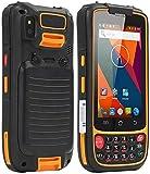 Escáner PDA, Scanner de código de barras Handheld Android 5.1 OS con el escáner de Honeywell N6603 2D, teclado numérico, pantalla táctil 4.0in, terminal móvil inalámbrico 4G WiFi BT GPS para inventari