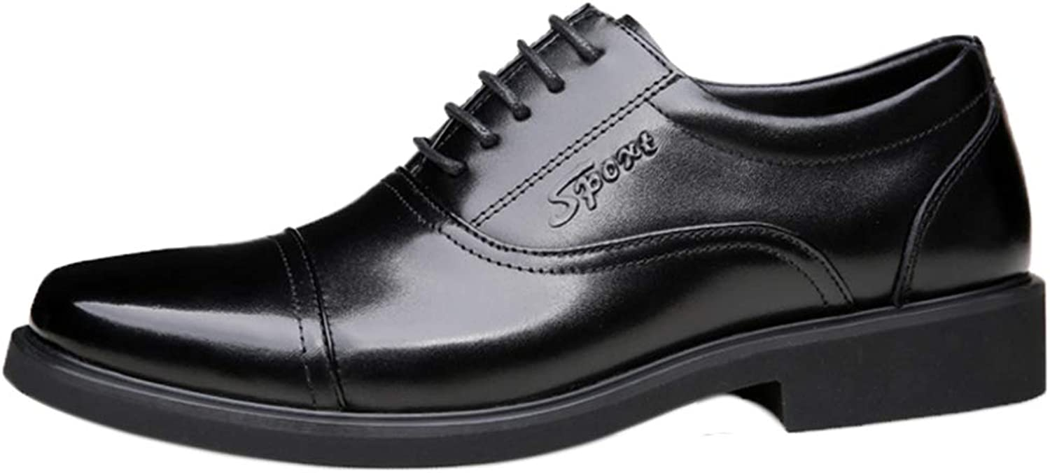 Men's Business shoes to Work in Formal Wear Lace-Up shoes Breathable Casual shoes