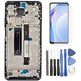 Hypak Pantalla IPS LCD para Xiaomi Mi 10T Lite (Completa con Marco de Color Azul) Incluye Protector de Pantalla y Herramientas