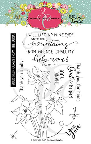 Colorado Craft Company Clear Stamps 4'X6'-Lift My Eyes Daffodils-Whimsy World