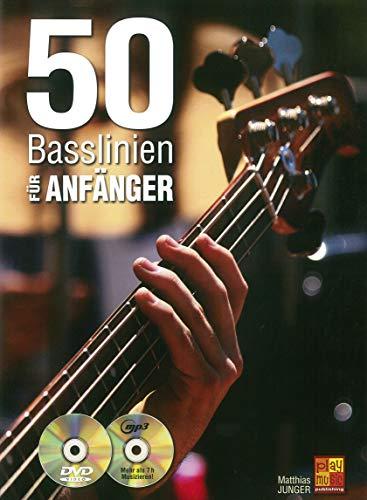 50 Basslinien für Anfänger (1 Buch + 1 CD + 1 DVD)