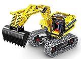 Modbrix Technic Bagger Bausteine Raupenbagger 342 Teile, kompatibel mit L*GO Technik