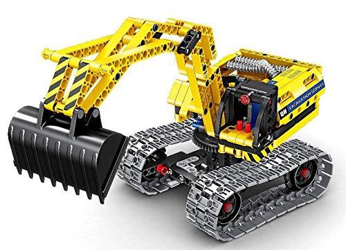 Modbrix Technic Ladrillos Excavadora Oruga Excavadora 342Piezas, Compatible con l * Go Técnica