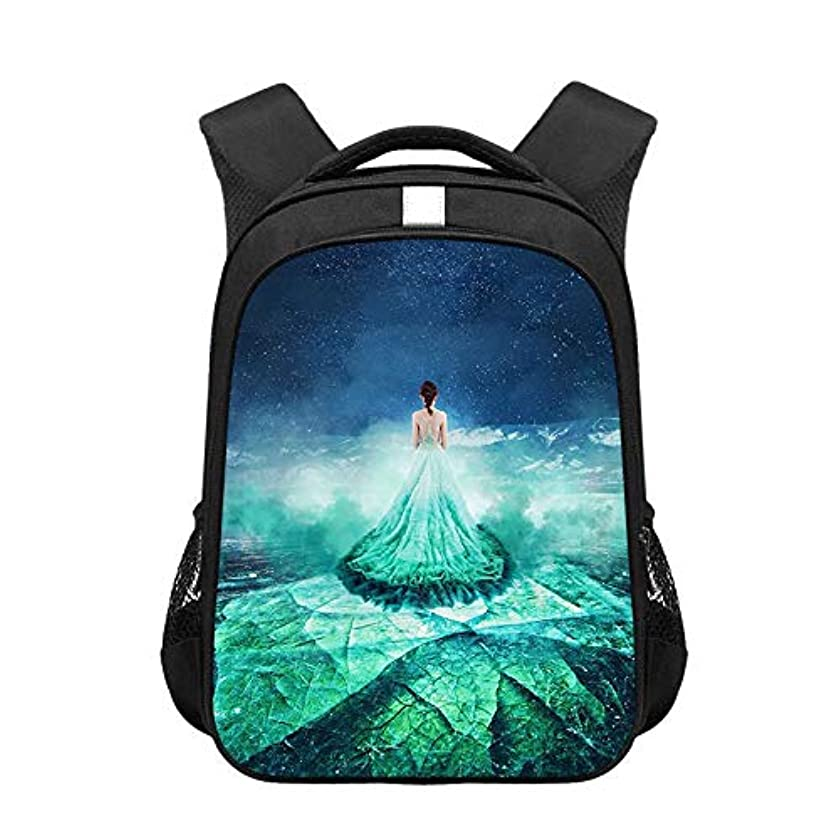 保守的大胆クランシーAbbpa 学生のバックパックファッション印刷漫画ファンタジーバイカル湖の生徒は、大容量のバッグを着用します