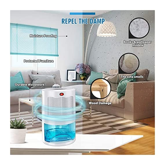 Gocheer upgraded dehumidifier for home,up to 480 sq. Ft dehumidifiers for high humidity in basements bedroom closet… 3 high effectively dehumidifier:comes with a 2000ml(68oz) water tank which can quickly and effectively remove up to 1000ml(34oz,temperature: 86 °f humidity: 80% rh) of moisture from the air per day. Keep your home comfortable and healthier all the time. Application area:up to 480 sq. Ft,this household portable small dehumidifier is widely used in all kinds of scenes such as your home,bathroom,living room,bedroom,closet,kitchen,which can efficiently meet your daily needs for removing moisture. Upgraded energy saving:compared with bulky compressor dehumidifiers,our compact home dehumidifier equips with semiconductor condensation technology which can ensure maximum water extraction with minimum power use.