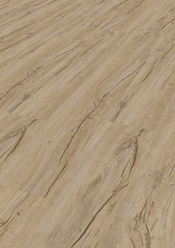 Tepcor Klick Vinylboden Premium Vinylbodenbelag mit Klicksystem Pflegeleichte und wasserfeste Vinyl Bodenbeläge in vielen verschiedenen Farben (Saragozza rustic)