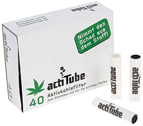 actiTube - filtros de CHARCOAL activados para rodar 7 mm - 1 caja = 40 filtros