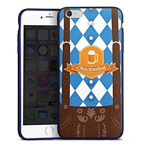 DeinDesign Apple iPhone 6s Plus Silikon Hülle Blau Case Schutzhülle Oktoberfest Lederhose Bier