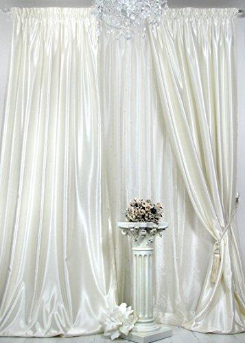 Trendoro 1 Vorhang *Satin Champagner*. Schwerer hochwertiger Satin, wirkt sehr edel, ist pflegeleicht & Blickdicht. Ateliergefertigt. Maßanfertigungen möglich!