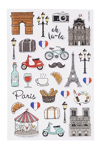 Hobbyfun GLOSSY-Sticker Frankreich, Bogen 10 x 15 cm