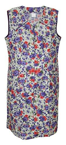 Reißverschluss Kittel RV Hauskleid Baumwolle Schürze, Größe:48, Modell:Modell 2
