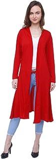 Rane Women's Solid Casual nd Cotton Long Shrug