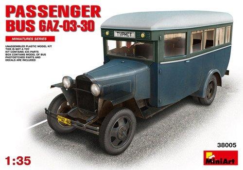 MiniArt 38005 - modelbouwpakket Passanger bus GAZ-03-30, grijs