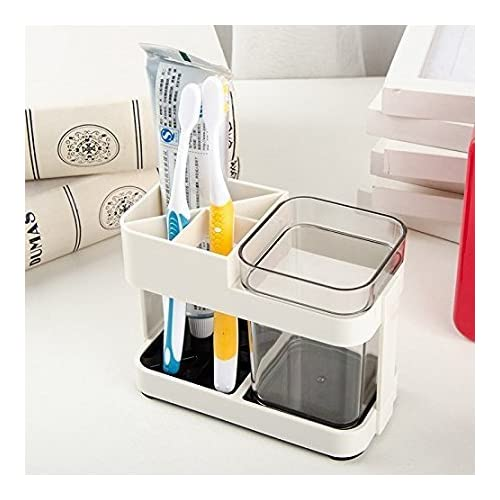 Zollyss 1 Cup Toothbrush Toothpaste Stand Holder Bathroom Storage Organizer