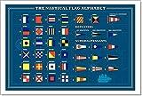 Barewalls International Maritime Signal Flags - Sea Alphabet, Vector Paper Print Wall Art (12in. x 18in.)