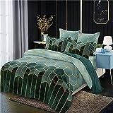 OKJK Geometry Gilt - Juego de ropa de cama con funda de edredón, estilo nórdico, tamaño king y...