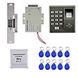 PETSOLA Kits de Control de Acceso a La Puerta con Controlador Eléctrico de Huellas Dactilares para Lamer Puerta con Perno