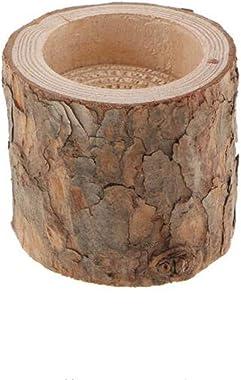 Lot de 10 bougeoirs en bois avec piquet d'arbre naturel, bougeoir fait main, bougeoir, base en bois pour maison, fête, ba