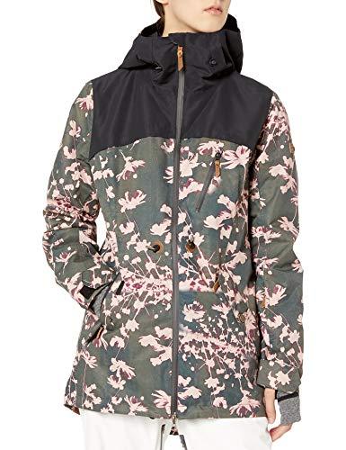 Roxy Damen Stated Jacket Jacke, True Black Poppy, Medium