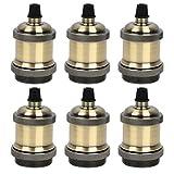 QLOUNI Juego de 6pcs Portalámparas Adaptador de Bombillas Vintage E27 (φ38 * H85mm) Lámpara Convertidor de la Bombilla (Bronce)