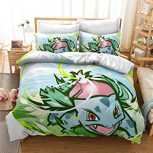 Meesovs Duvet Cover Set 200 X 200 cm for Single Double Super King Size Bed, 3D Printed Microfiber Bedding Sets Duvet Set with Pillowcases and Quilt case Cartoon anime character Christmas girl Duvet