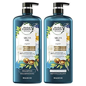Herbal Essences Repairing Argan Oil Of Morocco Shampoo and Conditioner set With Natural Source Ingredients Color Safe BioRenew 20.2 fl oz