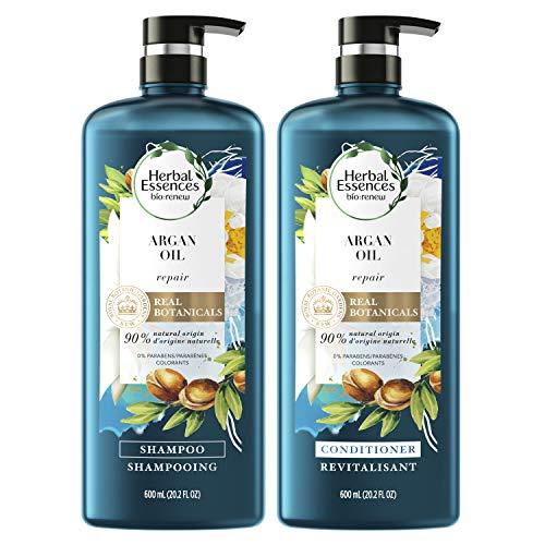 Herbal Essences, Repairing Argan Oil of Morocco Shampoo und Conditioner, Set mit natürlichen Inhaltsstoffen, farbecht, BioRenew, 600 ml
