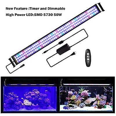 JOYHILL Éclairage d'aquarium à LED avec minuteur et variateur d'intensité pour Plantes en Corail