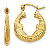 14k Yellow Gold Dolphin Hoop Earrings Ear Hoops Set Animal Sea Life Fine Jewelry For Women Gifts For Her