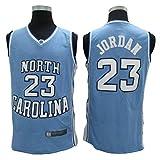 LLZYL Trikots - North Carolina Klassisches Retro-Trikot 23# Jordan Basketball Trikots Männer Und Frauen Trikot Cool Atmungsaktives Gewebe,L:180cm/75~85kg