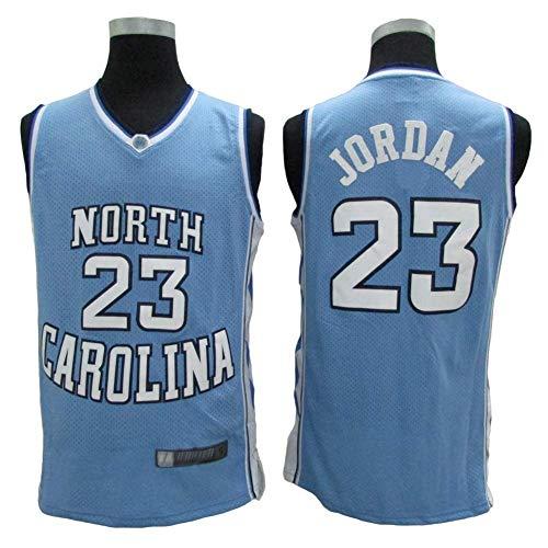LLZYL Jersey - North Carolina Classic Retro Jersey 23# Jordan Camisetas de Baloncesto Hombres y Mujeres Jersey Tela Transpirable Fresca