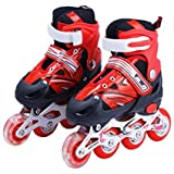 Kids Mandi Adjustable Inline Skates Wheels Beginner Skates Fun Illuminating Roller Skates for All...