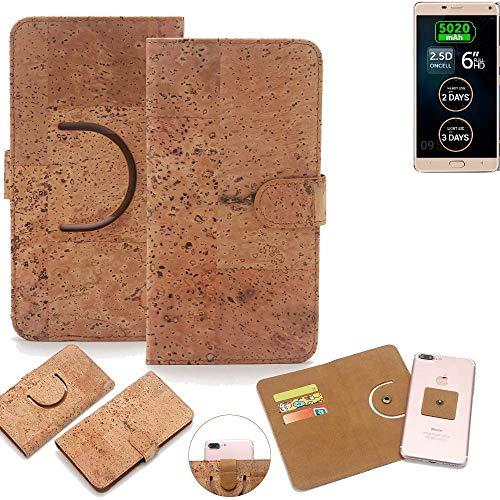 K-S-Trade Schutz Hülle Für Allview P8 Energy Pro Handyhülle Kork Handy Tasche Korkhülle Handytasche Wallet Hülle Walletcase Schutzhülle Flip Cover Smartphone