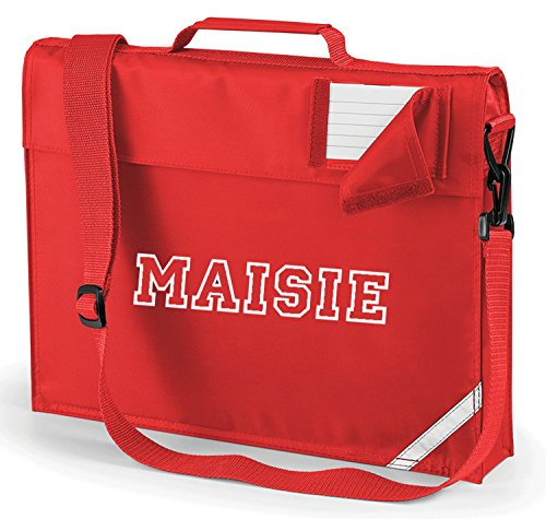 Bolsa escolar personalizada VARSITY Deluxe con tira alta y correa impresa con el nombre de la escuela
