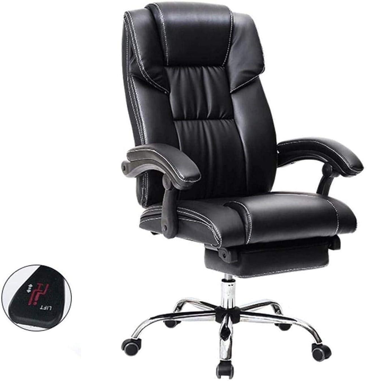 小石ジェット推進、動かすオフィスチェアレザー人間工学に基づいたオフィスのコンピュータチェアリクライニングチェアデスクチェアスイベル116x49x52cm ひざまずく椅子