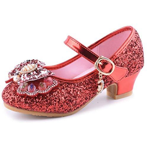LCXYYY Nia Bailarina Zapatos de Tacn, Zapatos de Tango Latino para Nios Disfraz de Princesa Zapatilla de Ballet Zapato Sandalias para Cumpleaos Fiesta Cosplay Carnaval EU26-37